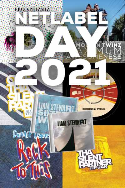 Image containing covers of all Netlabel Day 2021 releases