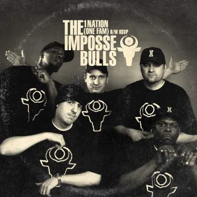 """Cover of """"1Nation (One Fam) B/W RSVP"""" by The Impossebulls"""